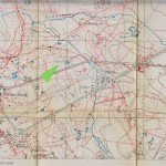 Trench Map Zonnebeke, 28 N.E 1, Edition 5B - Vampir Fm. (Arrow)