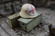 German Steel Helmet M16 - First Aider