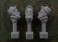 54mm French Head – Kepi with Beard