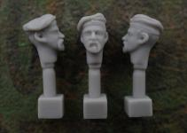 54mm German Head – Field Cap M1910 with Beard