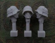 54mm German Head – M1916 Steel Helmet with Armoured Plate and Beard
