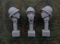 54mm French Head – Adrian Helmet M1915 and Beard