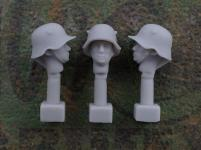 54mm German Head – M1918 Steel Helmet with Ear Cut-Outs